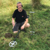 XP Deus HF round coil pasture test