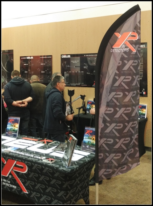 XP metal detectors trade stand