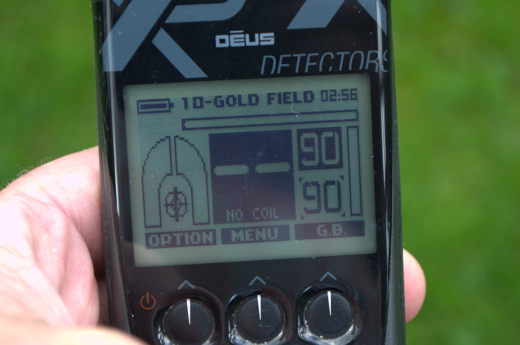 XP Deus deep targets using Goldfield