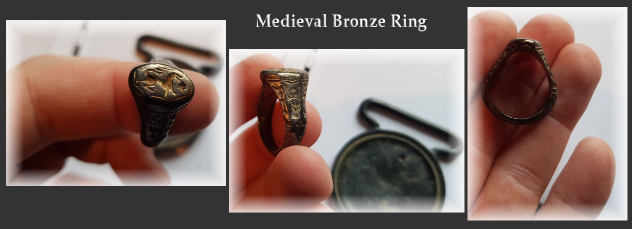 Ancient Medieval ring found with and XP Deus deep seeking metal detector